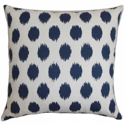 Juliaca Ikat Pillow Navy Blue, with insert - Linen & Seam
