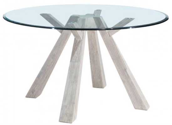 Beaumont Glass Round Dining Table - Zuri Studios