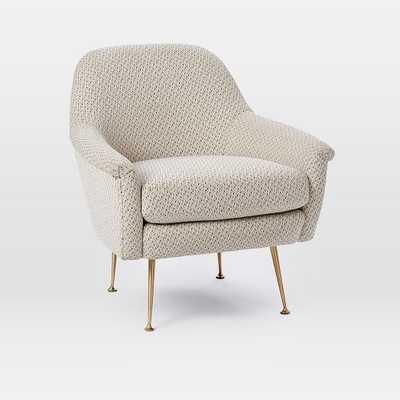 Phoebe Chair, Morse Dot - Ivory - West Elm
