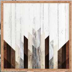 """GEO WOOD 3 Framed Wall Art -20""""x20"""" - Bamboo Frame - No Mat - Wander Print Co."""