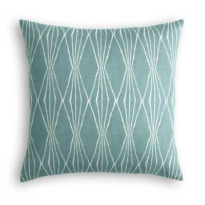 "Simple Throw Pillow - 16''x 16""- Down insert - Loom Decor"