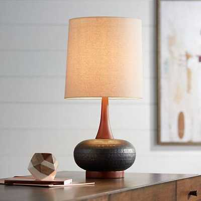 Andi Mid-Century Ceramic and Wood Table Lamp - Lamps Plus