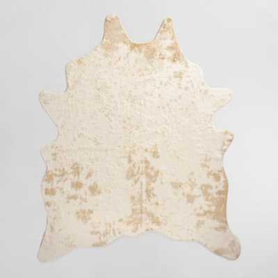 Gold Printed Faux Cowhide Area Rug - 6'x8' - World Market/Cost Plus