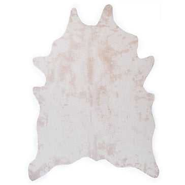 Ayi Faux Cowhide Rug - Ivory - Z Gallerie