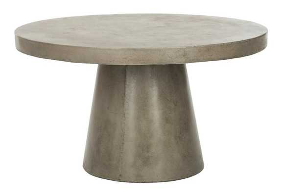 Delfia Modern Concrete Round Coffee Table - Arlo Home