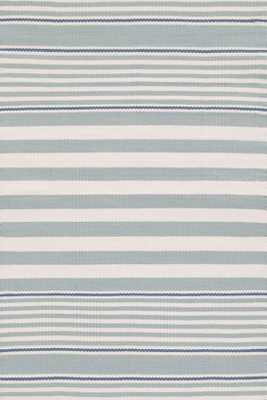 BECKHAM STRIPE LIGHT BLUE INDOOR/OUTDOOR RUG - Dash and Albert