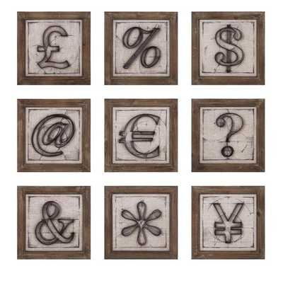 Beth Kushnick Symbols Wall Décor - Ast 9 - Mercer Collection