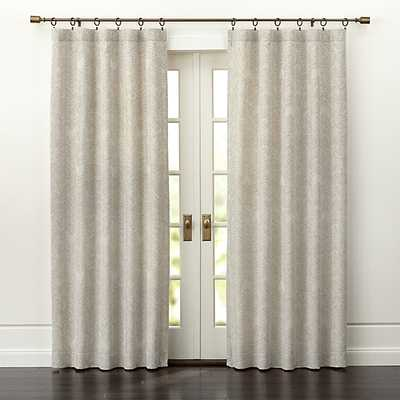 "Dover Cream/Taupe Curtain Panel - 50"" x 96"" - Crate and Barrel"