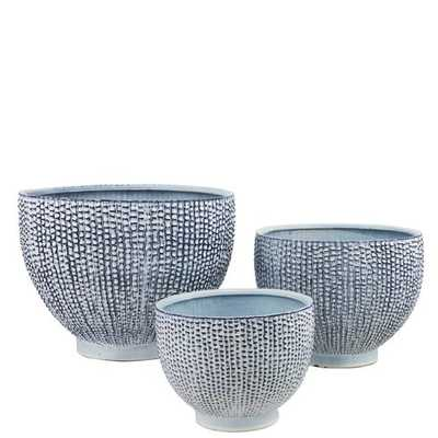 Dakota 3-Piece Ceramic Pot Planter Set - Wayfair