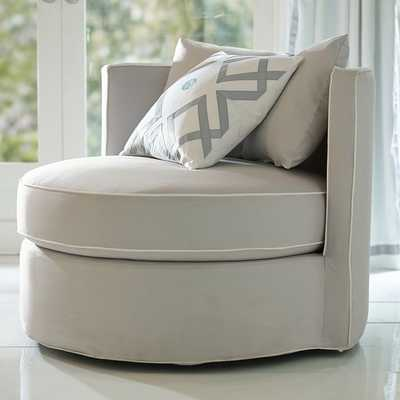 Round-About Slipcover Chair - Pottery Barn Teen