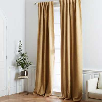 Crossweave Curtain + Blackout Liner - Sand Yellow - West Elm