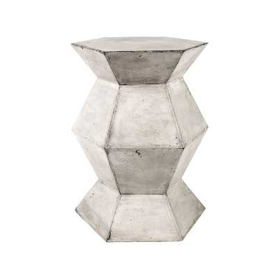 Flanery Accent Table In Polished Concrete - Rosen Studio