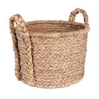 Household Essentials Large Wicker Floor Basket With Braided Handle - Overstock