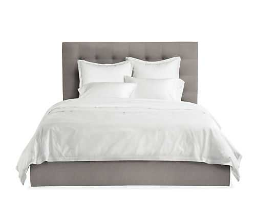 "Avery Bed - Merit Grey- KING, 48"" H Headboard - Room & Board"