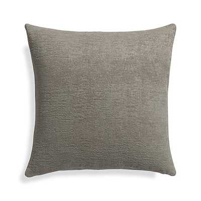 "Roussel Grey 20"" Pillow - Crate and Barrel"