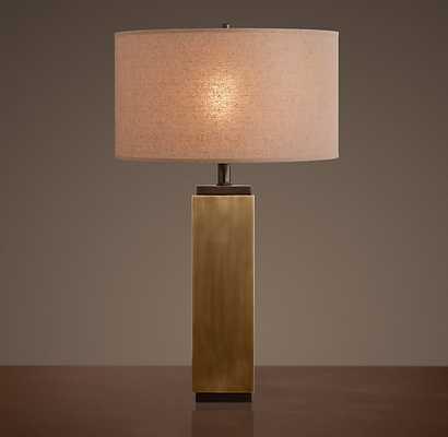 SQUARE COLUMN TABLE LAMP - RH Modern