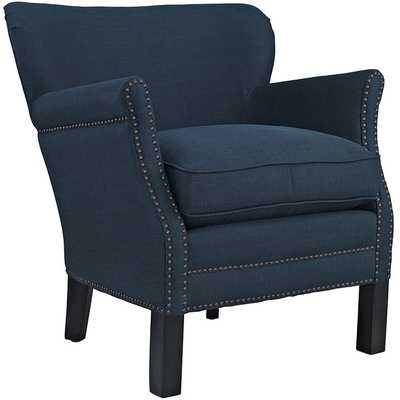 KEY UPHOLSTERED FABRIC ARMCHAIR IN AZURE - Modway Furniture