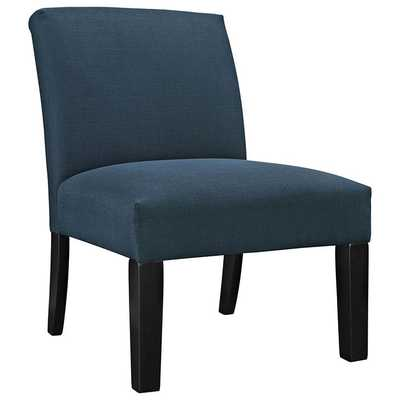 AUTEUR FABRIC SIDE CHAIR IN AZURE - Modway Furniture