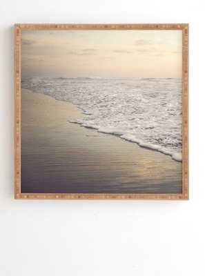 "FADING SEA- Framed- no mat, 20"" x 20"" - Wander Print Co."