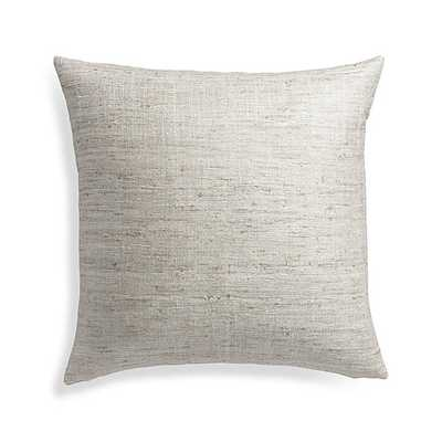 """Trevino Alloy 20"""" Pillow with Feather-Down Insert - Crate and Barrel"""