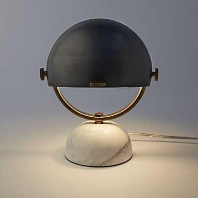Clint Mini Task Lamp - Antique Bronze/Marble - West Elm