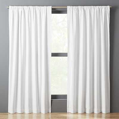 white basketweave ii curtain panel - CB2