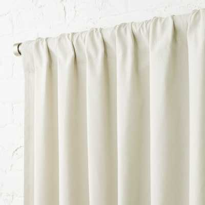 """Natural Tan Basketweave II Curtain Panel 48""""x120"" - CB2"