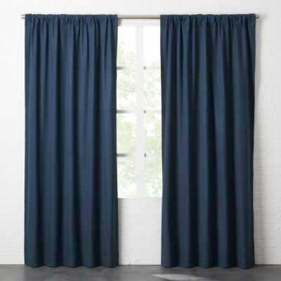"""Navy Blue Basketweave II Curtain Panel 48""""x96"""""" - CB2"