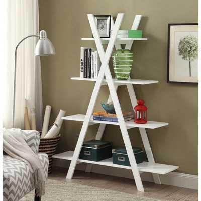 "Washington 59"" Accent Shelves Bookcase - Wayfair"