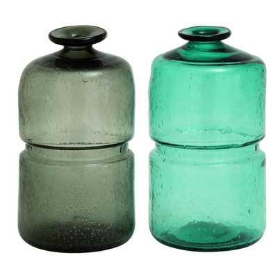 Glass Vase (Set of 2) - Wayfair
