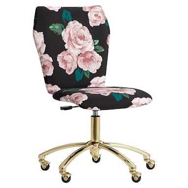 The Emily & Meritt Bed of Roses Airgo Armless Chair - Pottery Barn Teen