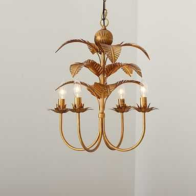 Palm Chandelier, Gold - Pottery Barn Teen
