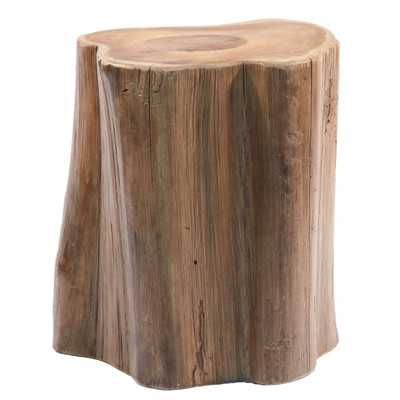 Teak Wood Tree Section Stool - Wayfair