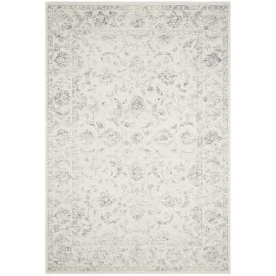 Akron Creek Cream/Gray Area Rug - Wayfair