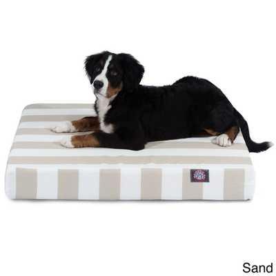 Majestic Pet Vertical Stripe Orthopedic Memory Foam Rectangle Dog Bed - Medium - Overstock