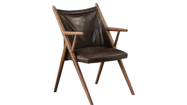 atelier leather lounge chair - CB2