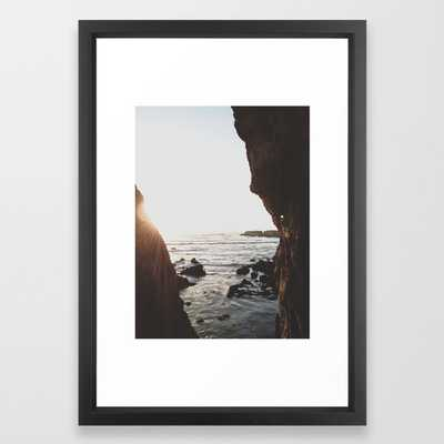 Shell Beach View Art - 15 x 21- Vector Black Frame - Society6