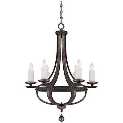 Savoy House Alsace 6-Light Wood Finish Chandelier - Lamps Plus
