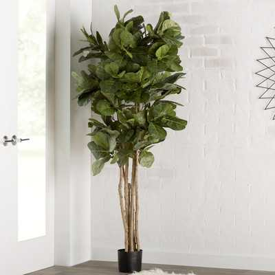 """Fiddle Leaf Fig Tree in Pot"" - Wayfair"