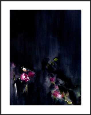 Night Garden II - Matte Black Metal - Artfully Walls