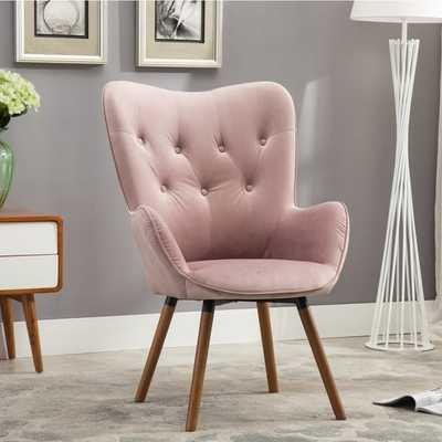 Doarnin Button Tufted High Back Velvet Accent Chair - Overstock