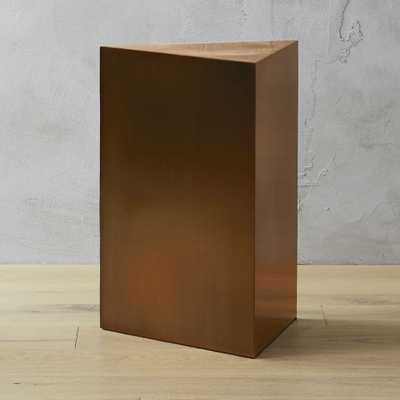 Tri Brushed Bronze Side Table - CB2
