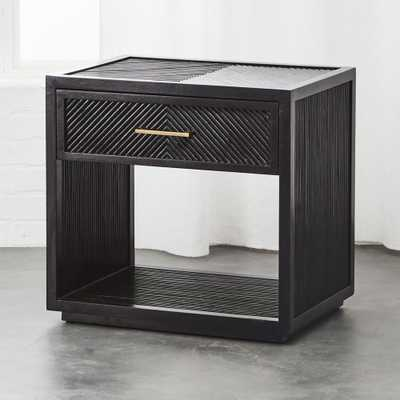 Carlo Black Wood Nightstand - CB2