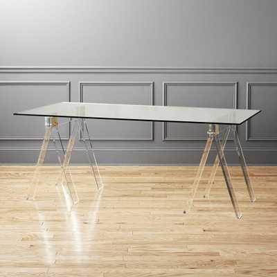 """Foundry 72"""" Acrylic Desk"" - CB2"