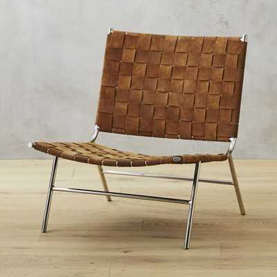 Woven Camel Suede Chair - CB2