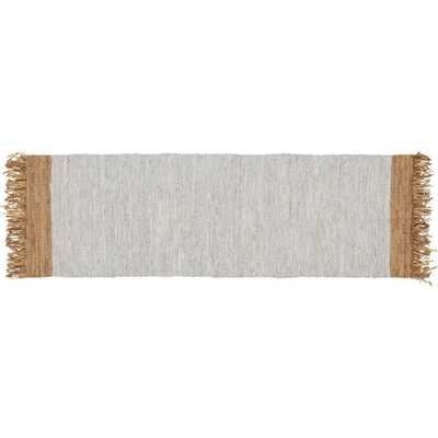 Natural Leather Dressage Runner 2.5'x8' - CB2