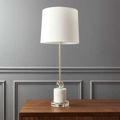 Siena Marble Base Table Lamp - CB2