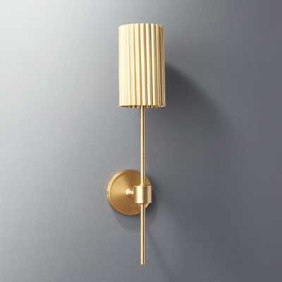 Fluted Gold Wall Sconce - CB2