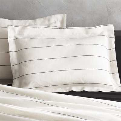 Set of 2 Linen Pinstripe Standard Shams - CB2