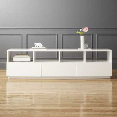 Chill Large White Media Console - CB2
